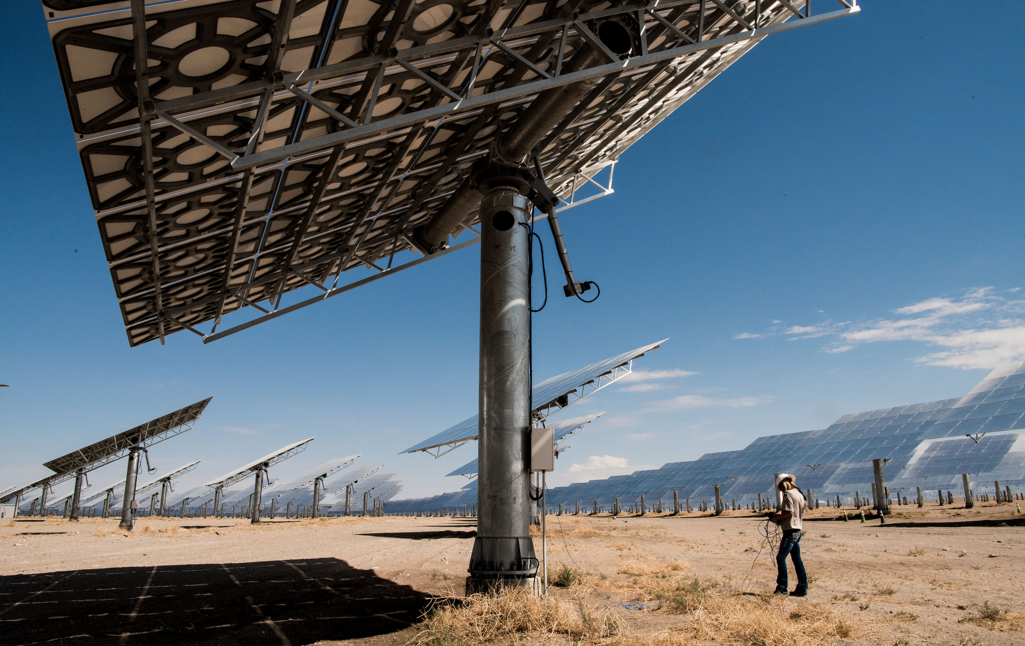 A solar thermal plant in Nevada